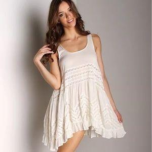 22e46e5ff0cbf Free People Dresses - Free People tea combo voile & lace trapeze dress